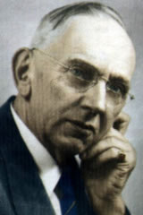 Tap Edgar Cayce on his forehead !